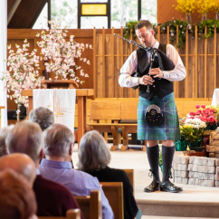 Smallpipes and border pipes can be excellent alternatives to the Highland pipes for those venues that are a bit smaller, or for those quieter moments in a service.